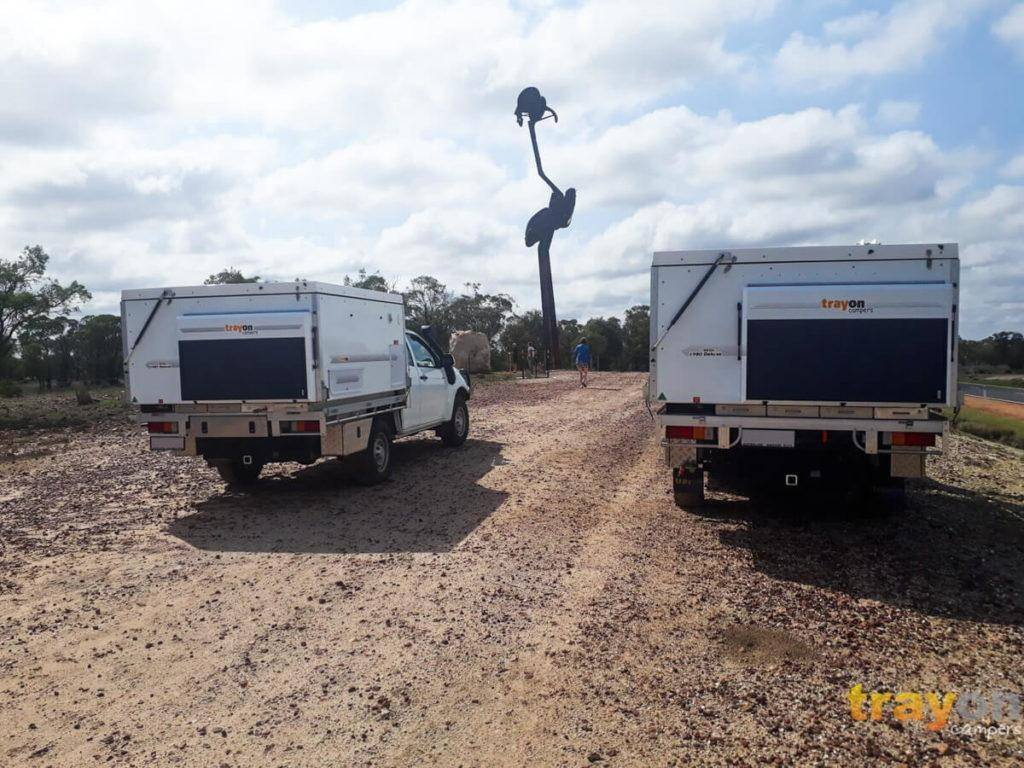 White Space Cab 2018 Isuzu Dmax 4x4 ute with Trayon Slide on Camper - Solar panel.